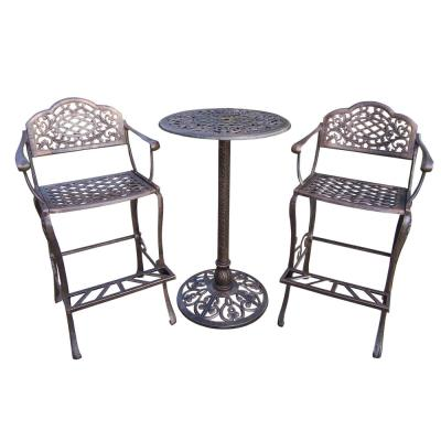 Mississippi 3-Piece Aluminum Outdoor Bar Height Dining Set
