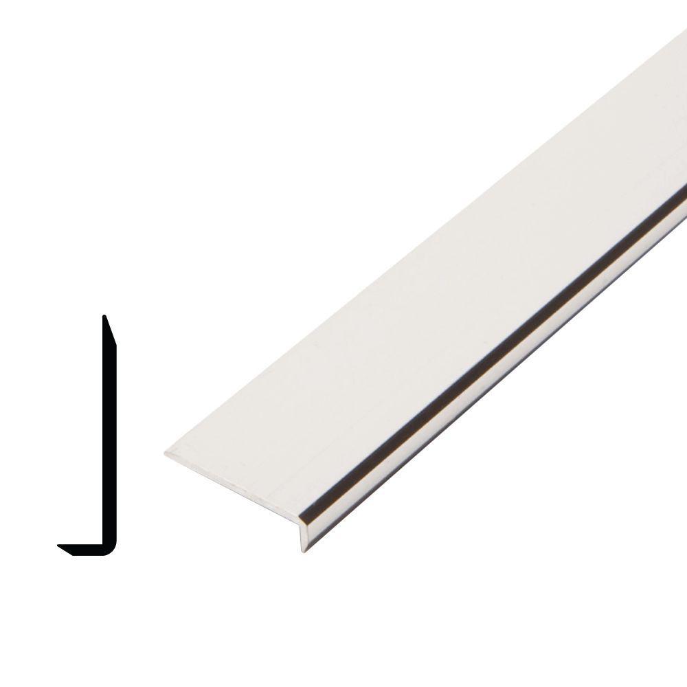 1/4 in. x 1 in. x 96 in. Metal Mira Lustre Plain Edging Moulding