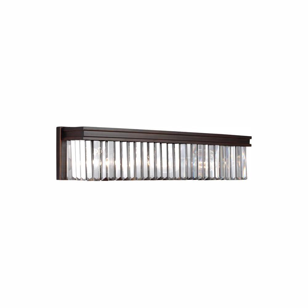 Carondelet 4-Light Burnt Sienna Bath Light with LED Bulbs