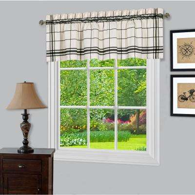 Bainbridge 14 in. L Polyester Valance in Black