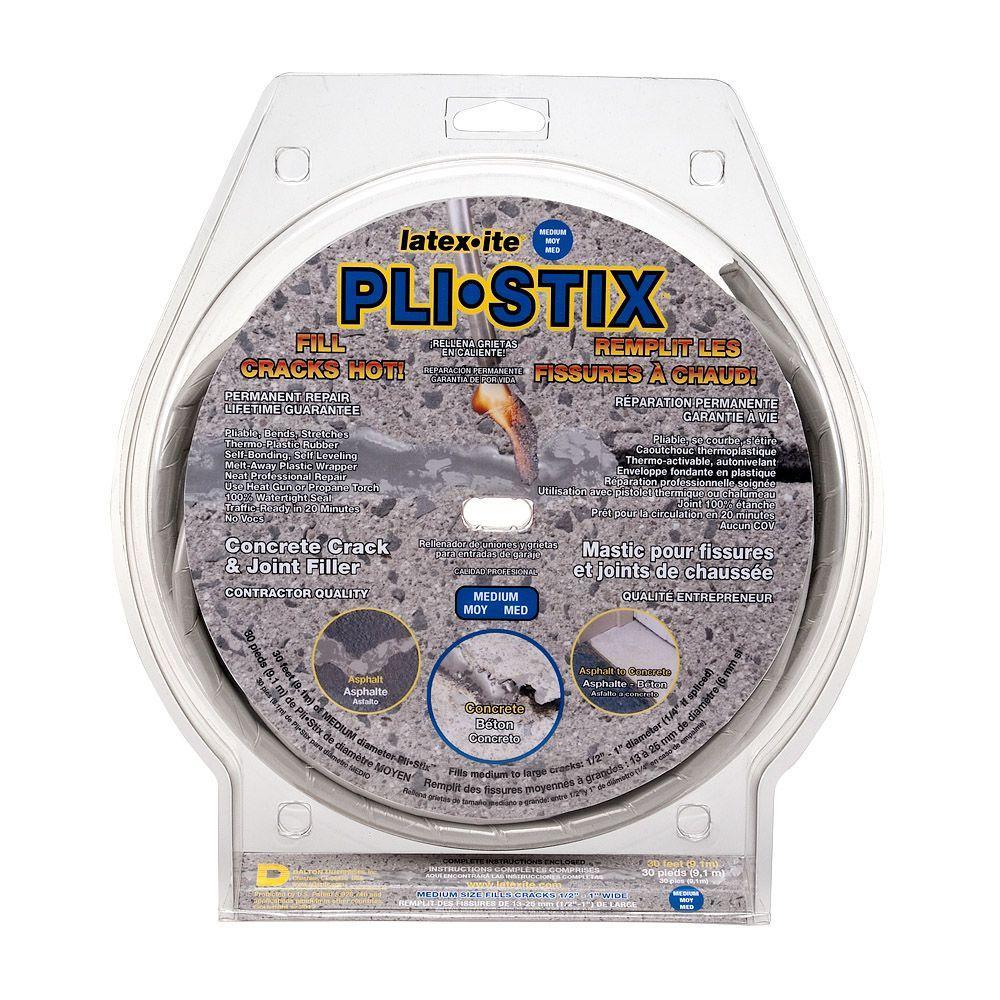 Latex-ite Pli-Stix 30 ft. Medium Gray Permanent Concrete Joint and Crack Filler