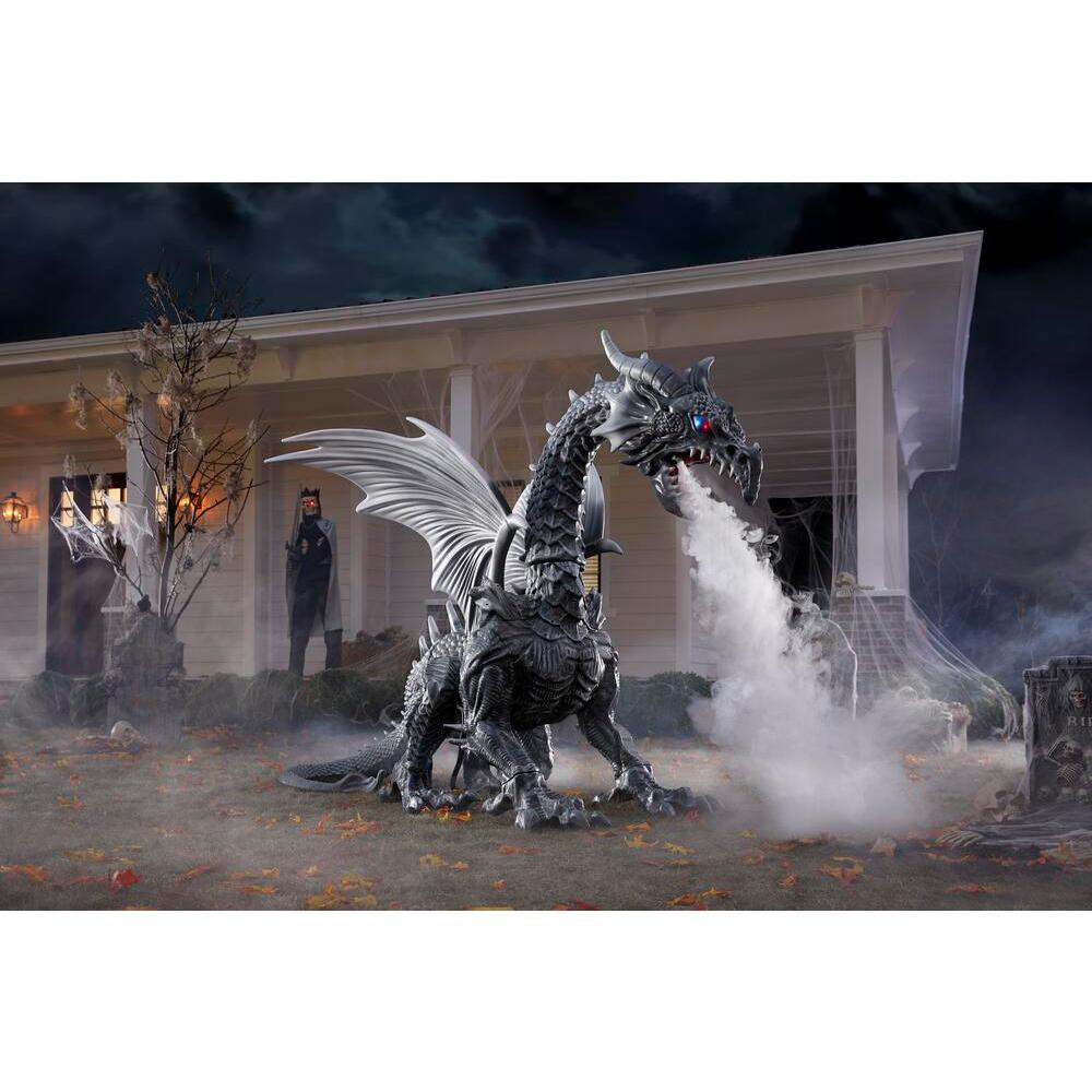 Home Depot Is Selling A Giant Dragon That Breaths Fog That For Halloween!