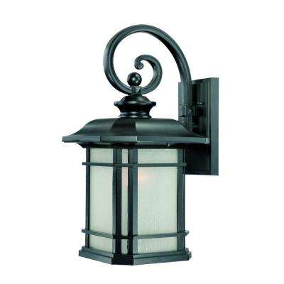 Somerset Collection 1-Light Matte Black Outdoor Wall-Mount Light Fixture