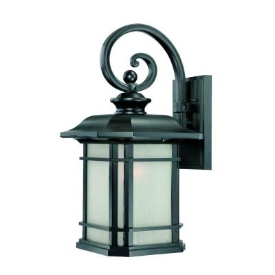 Somerset Collection 1-Light Matte Black Outdoor Wall Lantern Sconce