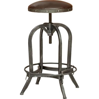Silla 33.5 in. Brown Adjustable Bar Stool