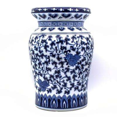 Blue Garden Decorative Podium Stool