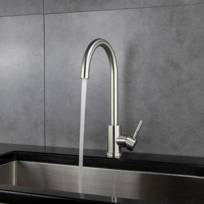 Single Hole Single-Handle Kitchen Faucet in Brushed Nickel