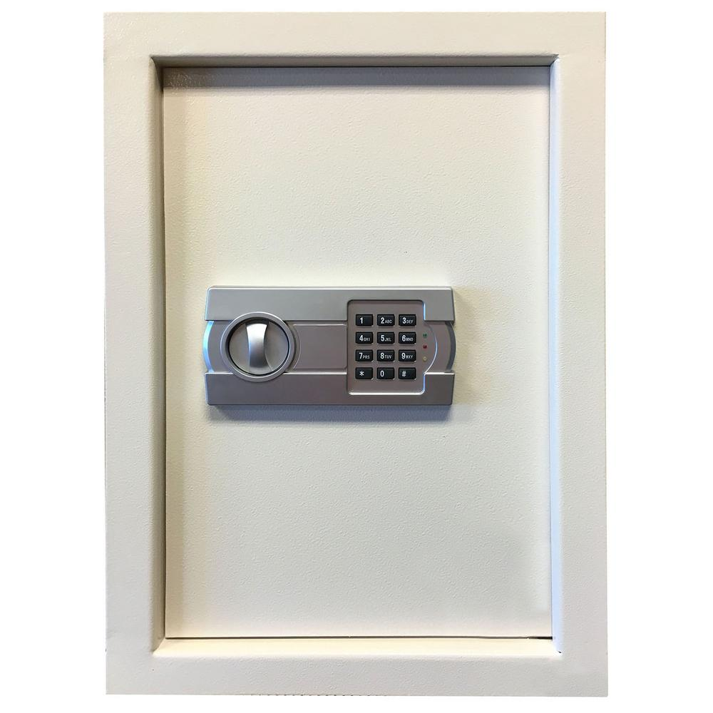 BUFFALO 0.58 cu. ft. Wall Safe with Electronic Lock, Beige