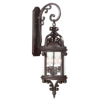 Pamplona 4-Light Old Bronze Outdoor Wall Mount Lantern