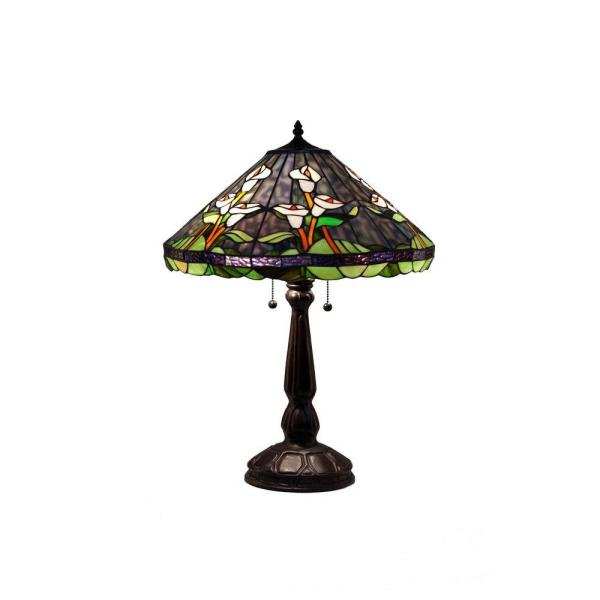 Tiffany Calla Lilly 25 in. Bronze Table Lamp