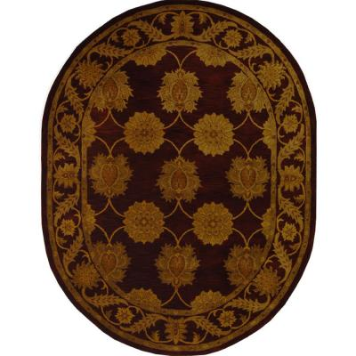 Safavieh Heritage Maroon 4 Ft X 4 Ft Round Area Rug Hg314b 4r The Home Depot