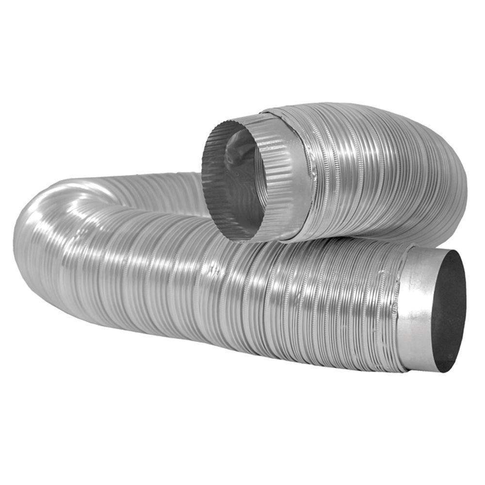 4 in. x 6 ft. Semi-Rigid Aluminum Duct with Collars