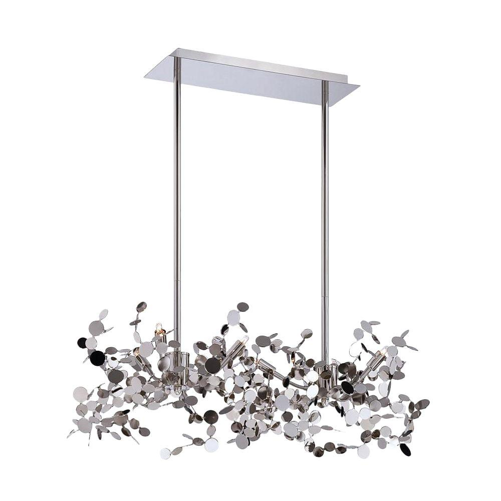 null Divo Collection 6-Light Nickel Pendant