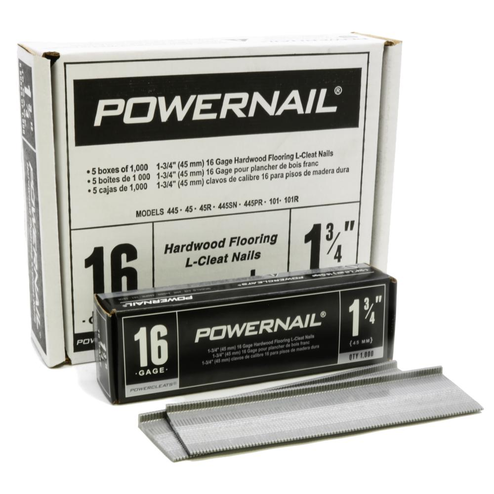 Powernail 1 3 4 In X 16 Gauge Powercleats Hardwood Flooring Nails