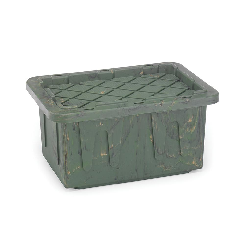 Gentil Durabilt 15 Gal. Storage Box Camo (Set Of 6)
