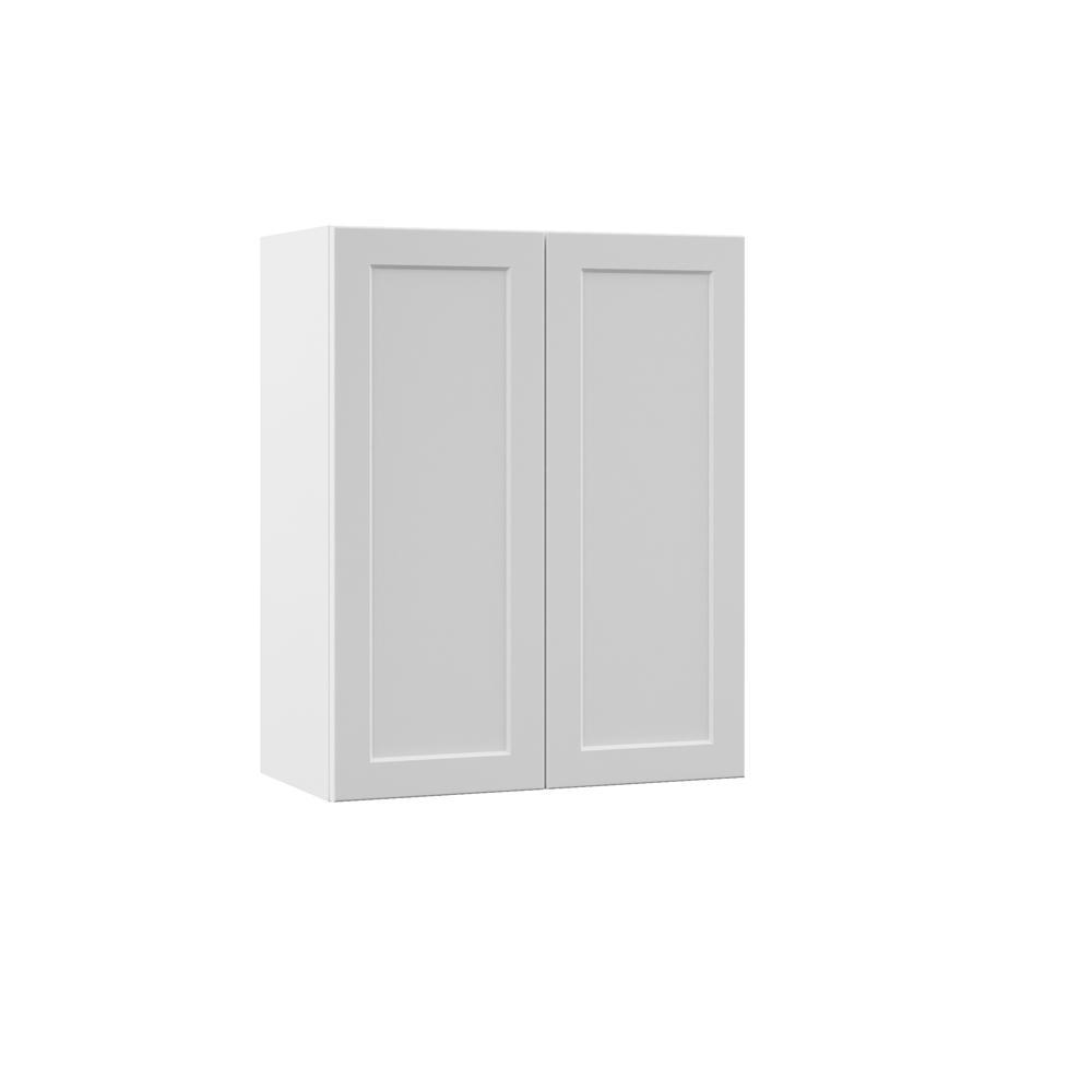 Hampton Bay Kitchen Cabinets White: Hampton Bay Designer Series Melvern Assembled 24x30x12 In