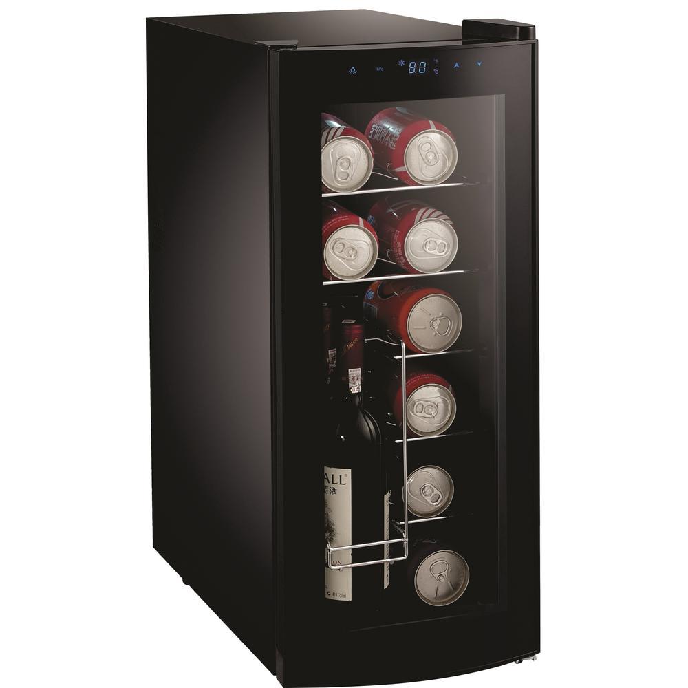 25 in. 12-Bottle or 26-Can Curved Door Beverage Cooler