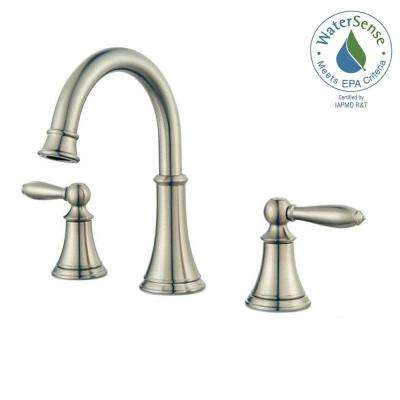 Courant 8 in. Widespread 2-Handle Bathroom Faucet in Brushed Nickel
