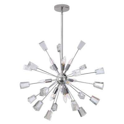 Sputnik 9-Light Crystal And Chrome Chandelier