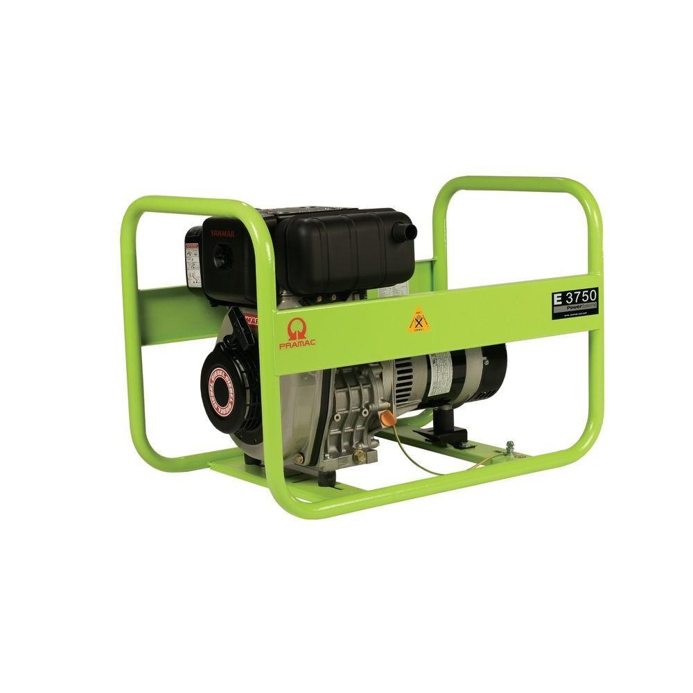 Pramac 3,750-Watt Diesel Powered Manual Start Portable Generator with Yanmar Engine