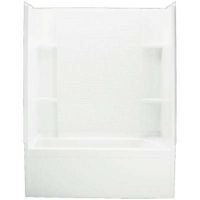 Accord 36 in. x 60 in. x 76.25 in. Bath and Shower Kit Left-Hand Drain in White