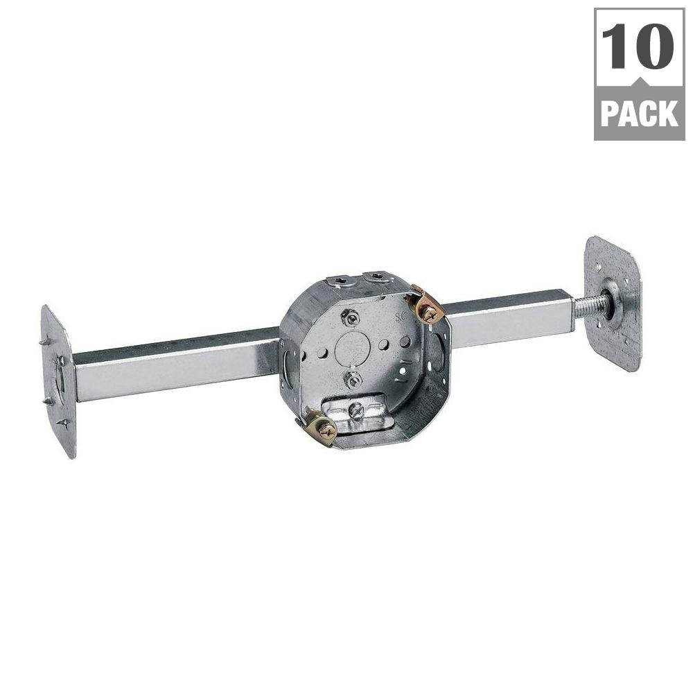 Steel City 4 In 15 8 Cu In Pre Galvanized Metal Octagon