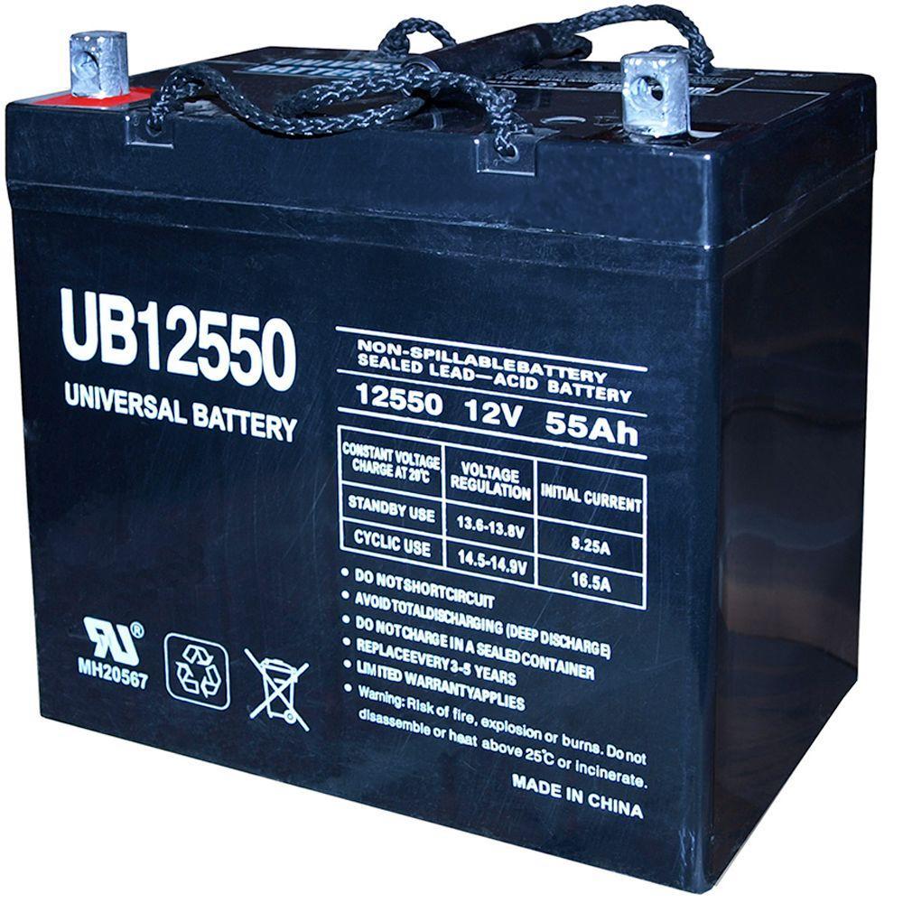 SLA 12-Volt 55 Ah Z1 Terminal Battery