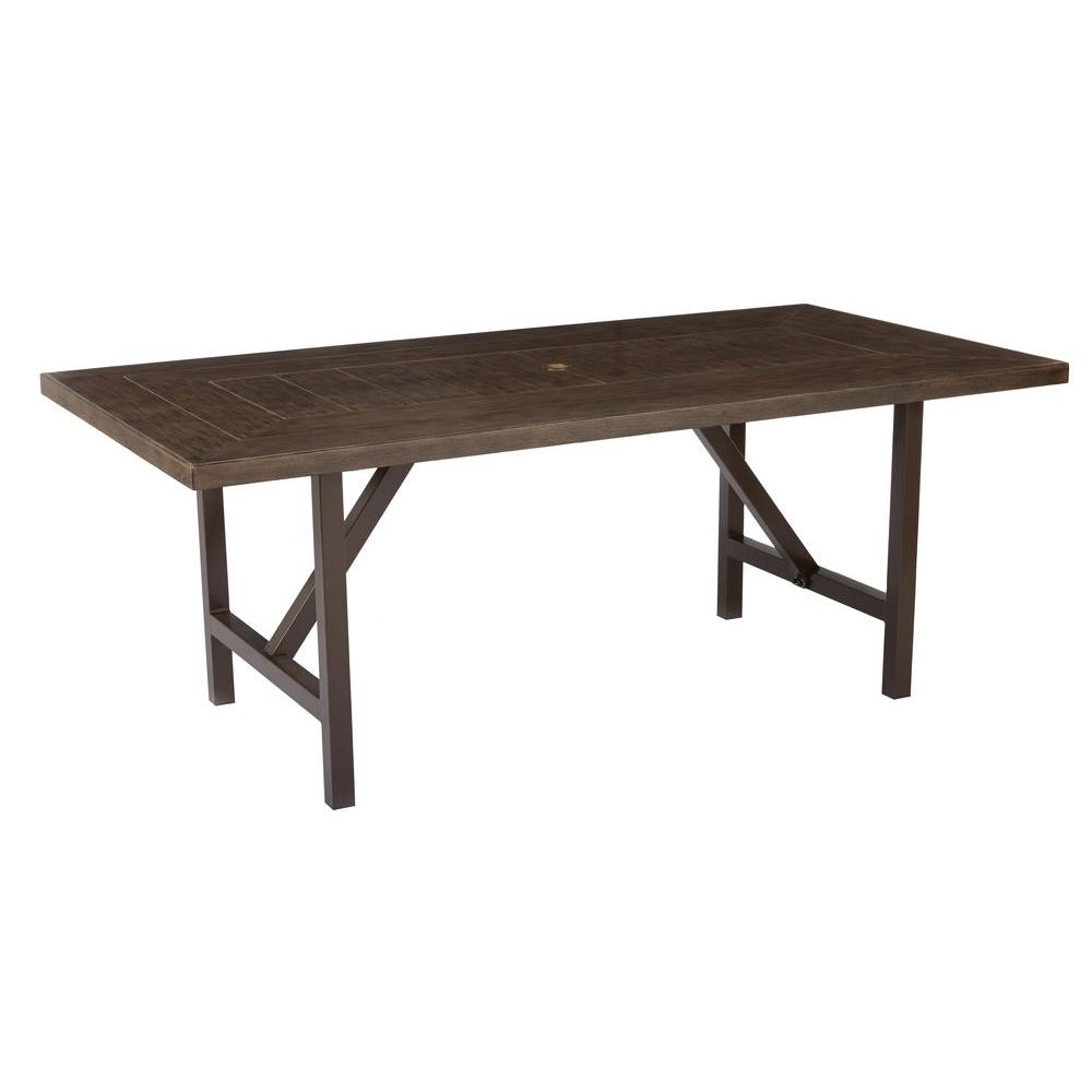 Home Decorators Collection Bolingbrook Metal Rectangular Outdoor - Outdoor wood rectangular dining table