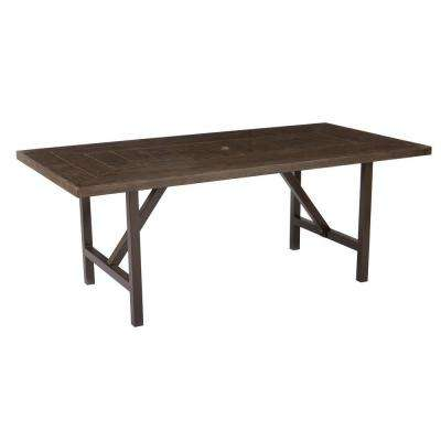 Bolingbrook Metal Rectangular Outdoor Patio Dining Table