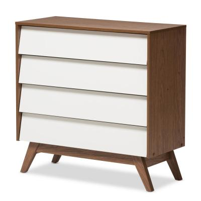 Hildon 4-Drawer White Chest