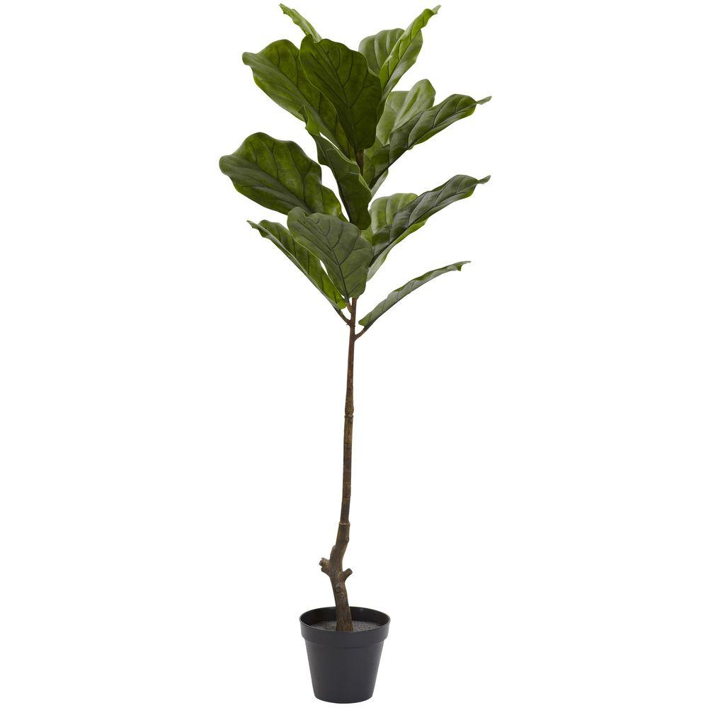 Nearly Natural 4 ft. UV Resistant Indoor/Outdoor Fiddle Leaf Tree