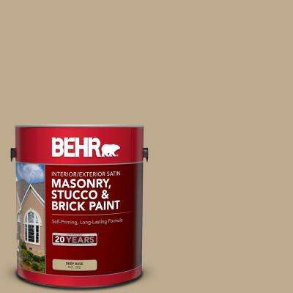 1 gal. #MS-44 Autumn Tan Satin Masonry, Stucco and Brick Interior/Exterior Paint
