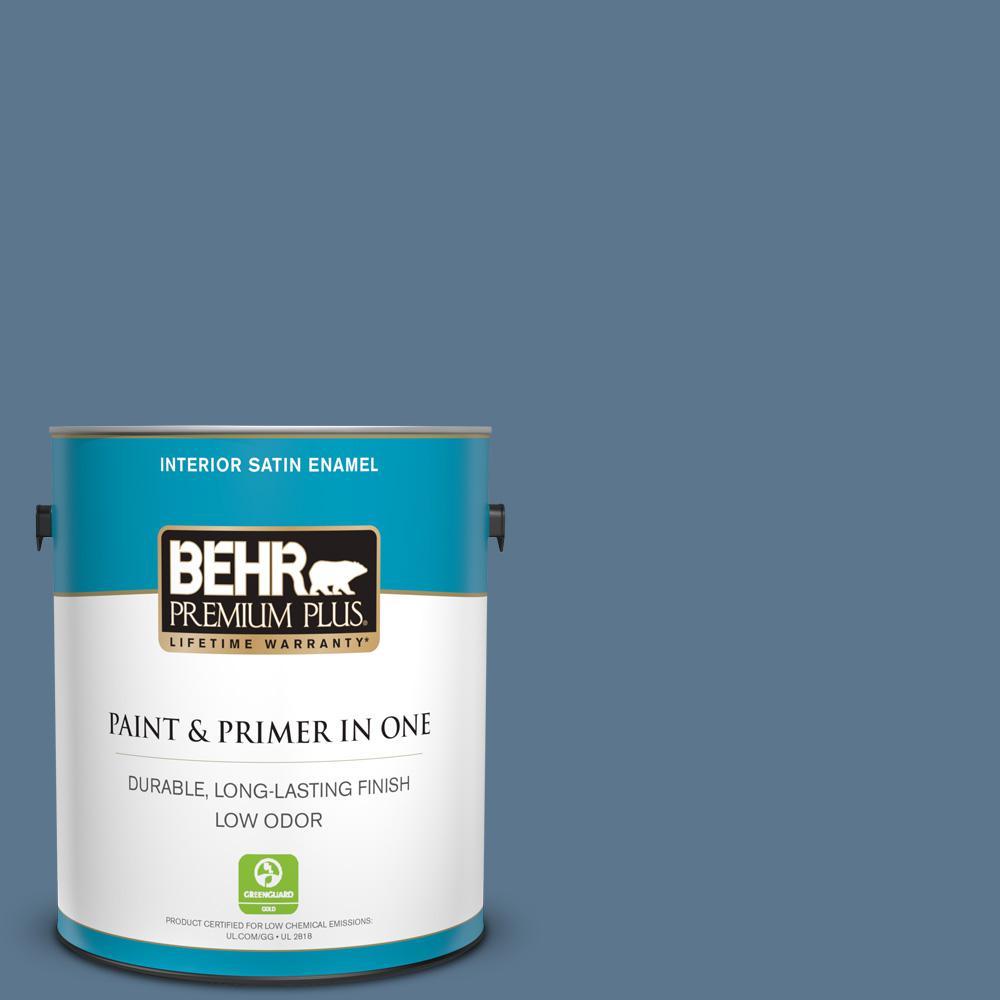 1 gal. #ECC-57-3 Always Indigo Satin Enamel Low Odor Interior Paint