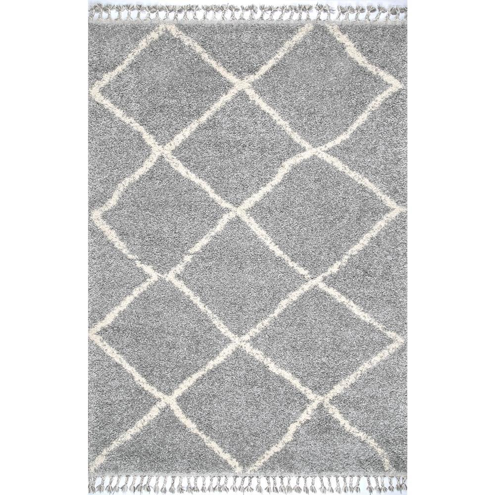 Jessie Moroccan Lattice Tel Gray 6 Ft 7 In X 9 Area Rug