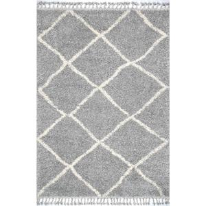 Nuloom Jessie Moroccan Lattice Tel Gray 5 Ft 3 In X 7