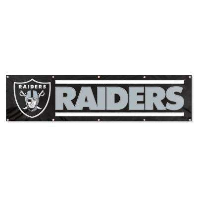 8 ft. x 2 ft. NFL License Raiders Team Banner