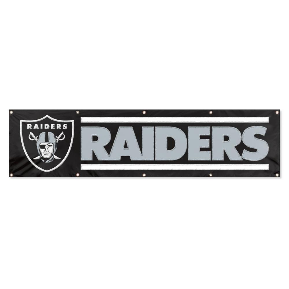 8 ft. x 2 ft. NFL License Raiders Team Banner
