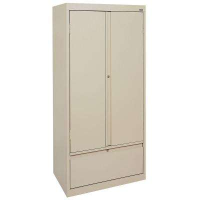 Systems Series 30 in. W x 64 in. H x 18 in. D Storage Cabinet with File Drawer in Putty