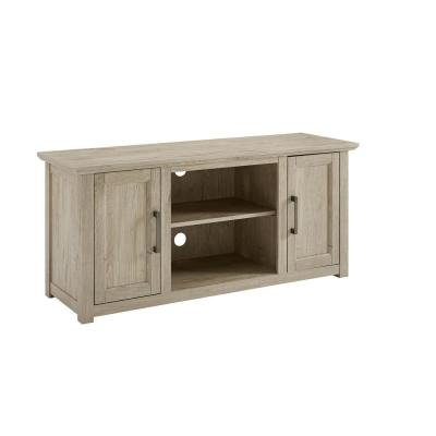 Camden 48 in. Frosted Oak Low Profile TV Stand Fits 50 in. TV with Cable Managment