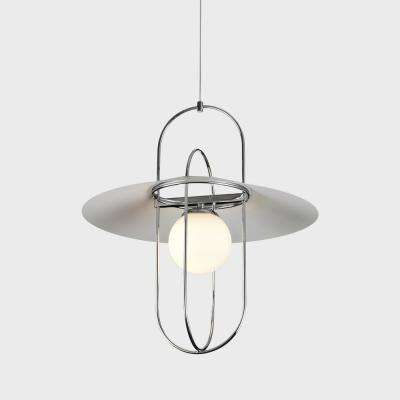 Lyra 25-Watt Integrated LED Chrome Pendant