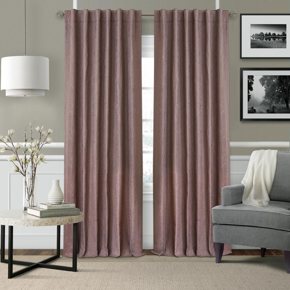 Elrene Leila Matelasse Blackout Window Curtain