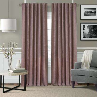 Elrene Leila SingleBlackout Window Curtain Panel in Mauve - 52 in. W x 95 in. L