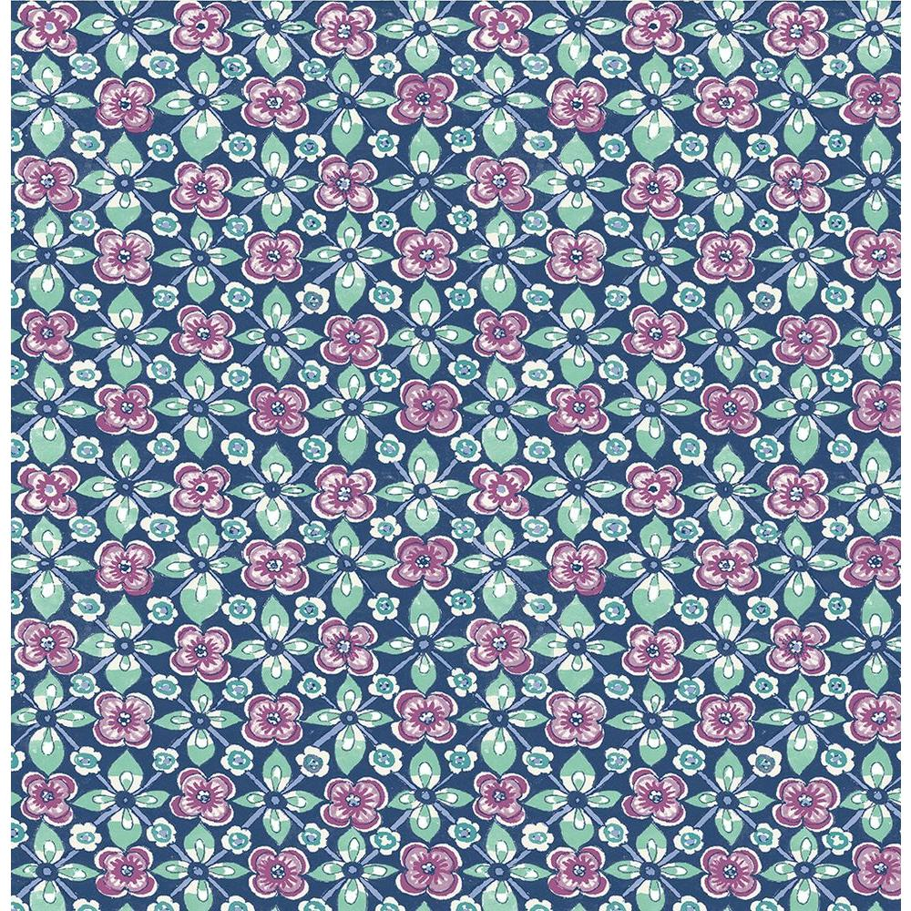 A-Street Ainsley Red Boho Floral Wallpaper-1014-001848 - The Home Depot
