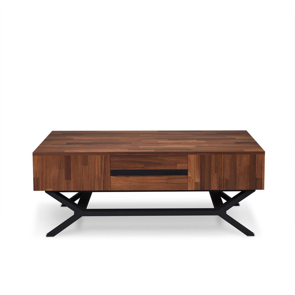 Acme Furniture Karine Sandy Black And Walnut Coffee Table
