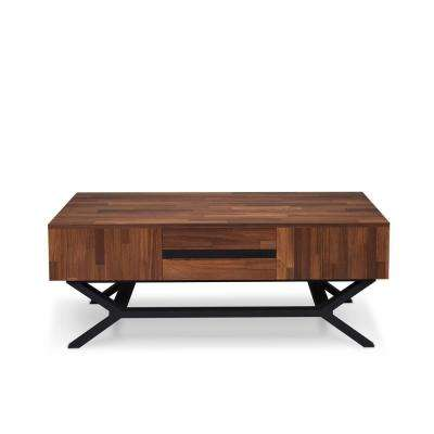 Karine Sandy Black and    Walnut Coffee Table
