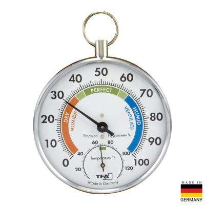Chrome PocketWatch-design Thermo-Hygrometer