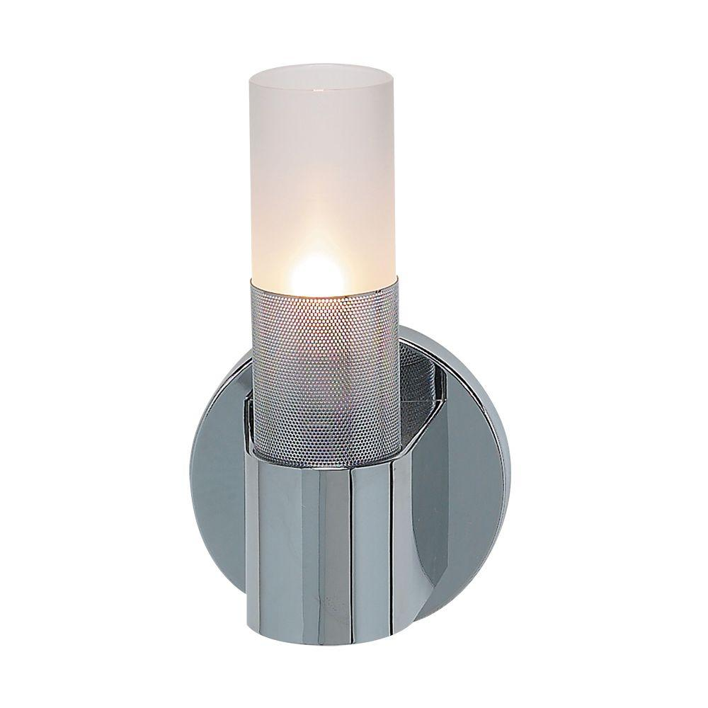 Easylite Uomo Collection 1-Light Chrome Wall Sconce