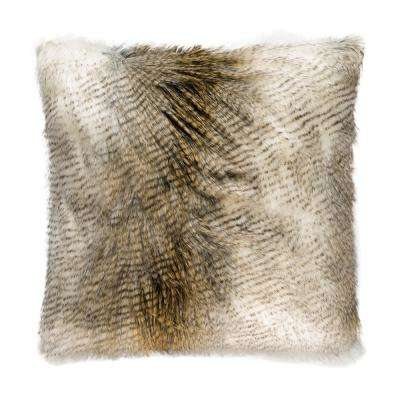 Alaskan Hawk Feather Down 24 in. x 24 in. Standard Decorative Throw Pillow