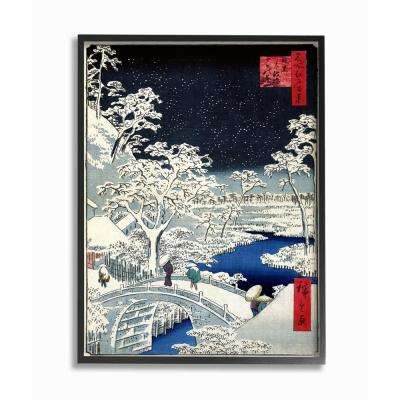 """16 in. x 20 in. """"Eastern Illustration Snow"""" by Piddix Printed Framed Wall Art"""