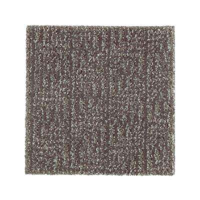 Carpet Sample - Scarlet - Color Rough Stone Pattern 8 in. x 8 in.